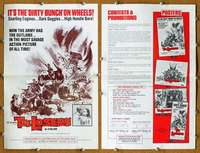 d027 LOSERS movie pressbook '70 it's The Dirty Bunch on wheels!