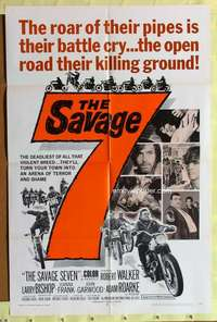 d035 SAVAGE 7 one-sheet movie poster '68