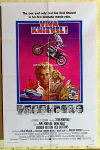 d038 VIVA KNIEVEL one-sheet movie poster '77 best motorcycle daredevil!