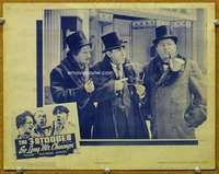 f878 SO LONG MR. CHUMPS movie lobby card '41 Three Stooges, Curly!