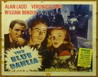 j063 BLUE DAHLIA style B half-sheet movie poster '46 Ladd, Veronica Lake