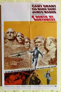 k537 NORTH BY NORTHWEST one-sheet movie poster R66 better than original!