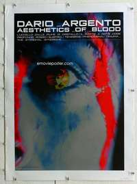 n344 DARIO ARGENTO AESTHETICS OF BLOOD linen Japanese movie poster '90s