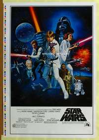 p001 STAR WARS style C 1sh movie poster '77 printer's test!