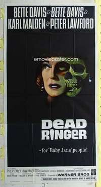 t010 DEAD RINGER three-sheet movie poster '64 Bette Davis, Karl Malden