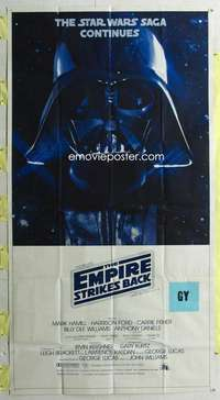 t011 EMPIRE STRIKES BACK three-sheet movie poster '80 George Lucas