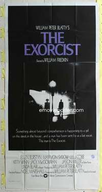 t012 EXORCIST int'l three-sheet movie poster '74 William Friedkin, Von Sydow