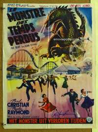 t055 BEAST FROM 20,000 FATHOMS signed Belgian movie poster '53 by Ray!