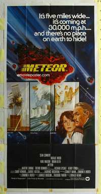 t021 METEOR English three-sheet movie poster '79 Sean Connery, Tanenbaum art!