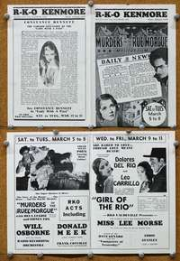 t068 MURDERS IN THE RUE MORGUE local theater movie herald '32