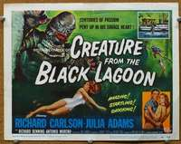 t105 CREATURE FROM THE BLACK LAGOON movie title lobby card '54 classic!