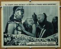 t073 FLASH GORDON #2 Chap 12 movie lobby card '36 Ming the Merciless!