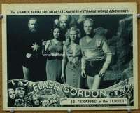 t072 FLASH GORDON #4 Chap 12 movie lobby card '36 great cast portrait!
