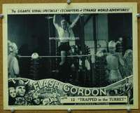 t076 FLASH GORDON #5 Chap 12 movie lobby card '36 barechested Buster!