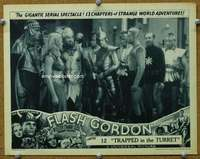 t074 FLASH GORDON #6 Chap 12 movie lobby card '36 Buster & Jean!