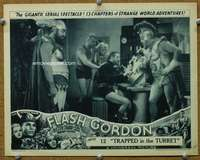 t075 FLASH GORDON #7 Chap 12 movie lobby card '36 Buster by controls!