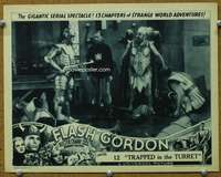 t078 FLASH GORDON #8 Chap 12 movie lobby card '36 held at gunpoint!