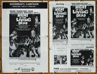 t065 NIGHT OF THE LIVING DEAD movie pressbook '68 classic!