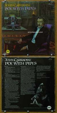 t061 POE WITH PIPES record album '60s John Carradine