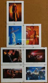 t070 BLADE RUNNER 7 special 9x12 movie lobby cards '82 Harrison Ford