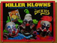 t059 KILLER KLOWNS FROM OUTER SPACE soundtrack movie poster '88