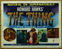 w077 THING half-sheet movie poster '51 Howard Hawks classic horror!