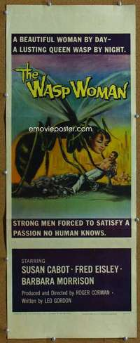 w047 WASP WOMAN insert movie poster '59 Roger Corman classic sci-fi!