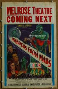 w182 INVADERS FROM MARS window card movie poster '53 classic sci-fi!