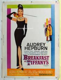c041 BREAKFAST AT TIFFANY'S Thirty by Forty movie poster '61 incredibly rare!