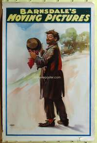 c025 BARNSDALE'S MOVING PICTURES one-sheet movie poster 1905 stone litho!