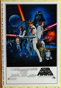 c015 STAR WARS style C printer's test 1sh movie poster '77 George Lucas classic!