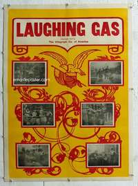 g382 LAUGHING GAS linen one-sheet movie poster '07 Edwin S. Porter