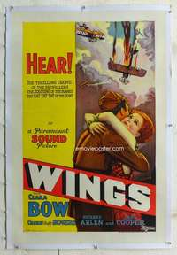 g003 WINGS linen one-sheet movie poster R29 previously unknown sound style!