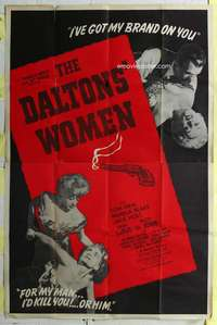 k007 DALTONS' WOMEN Forty by Sixty movie poster '50 Tom Neal, Pamela Blake