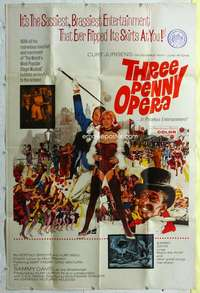k009 THREE PENNY OPERA Forty by Sixty movie poster '63 Curt Jurgens