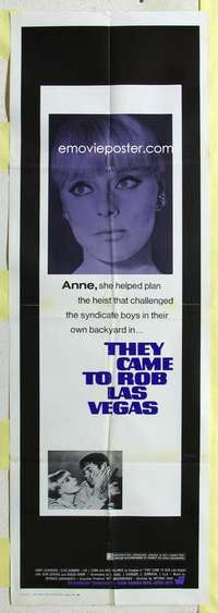 k011 THEY CAME TO ROB LAS VEGAS door panel movie poster '68 Sommer