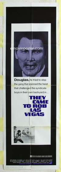 k012 THEY CAME TO ROB LAS VEGAS door panel movie poster '68 Palance
