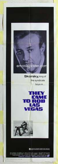 k013 THEY CAME TO ROB LAS VEGAS door panel movie poster '68 Lee Cobb