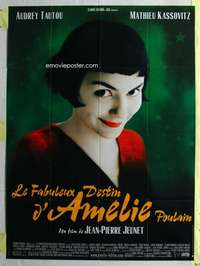 k054 AMELIE French one-panel movie poster '01 Tautou, Jean-Pierre Jeunet