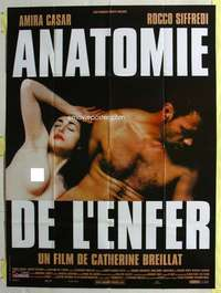 k055 ANATOMY OF HELL French one-panel movie poster '04 sexy Amira Casar!