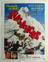 k059 AVALANCHE French one-panel movie poster '78 Roger Corman, Rock Hudson