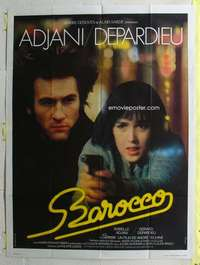 k060 BAROCCO French one-panel movie poster '76 Gerard Depardieu, Adjani