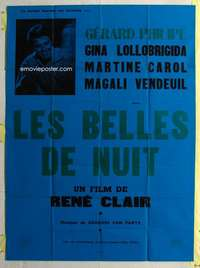 k062 BEAUTIES OF THE NIGHT French one-panel movie poster '52 Rene Clair
