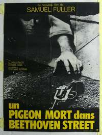 k078 DEAD PIGEON ON BEETHOVEN STREET French one-panel movie poster '74