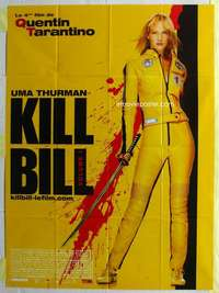 k117 KILL BILL VOL 1 French one-panel movie poster '03 Quentin Tarantino, Uma