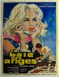 k061 BAY OF THE ANGELS French one-panel movie poster '63 Jeanne Moreau