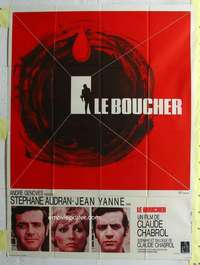 k070 BUTCHER French one-panel movie poster '72 Claude Chabrol, Le Boucher!