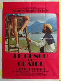 k075 CLAIRE'S KNEE French one-panel movie poster '71 Eric Rohmer, sexy legs!