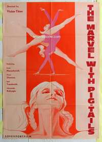 k039 MARVEL WITH PIGTAILS Russian export movie poster '74 ballet!