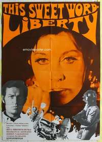 k045 THIS SWEET WORD LIBERTY Russian export movie poster '73